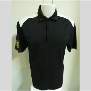 Sz M Black NIKE Golf MENS DRI-FIT Poly #04G Polo